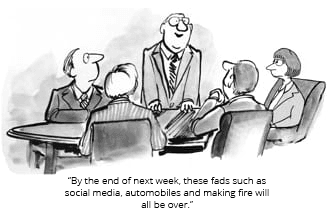 cartoon of business meeting