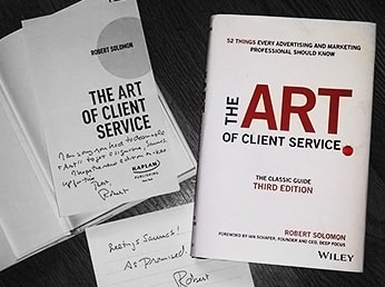 The art of client service with a letter to a writer